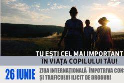 26 iunie – Ziua Internaţională Împotriva Consumului şi Traficului Ilicit de Droguri. Ce se întâmplă