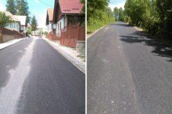 Au fost finalizate lucrările de asfaltare pe drumul judeţean Râşca – Mănăstireni