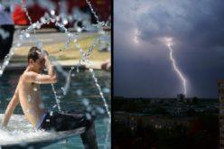 În timp ce unii români se sufocă, alții sunt amenințați de vremea rea