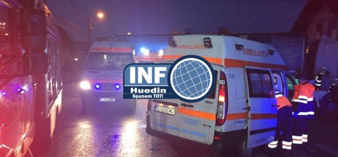 Accident grav la Căpușu Mare. Impact între un autobuz și un autoturism