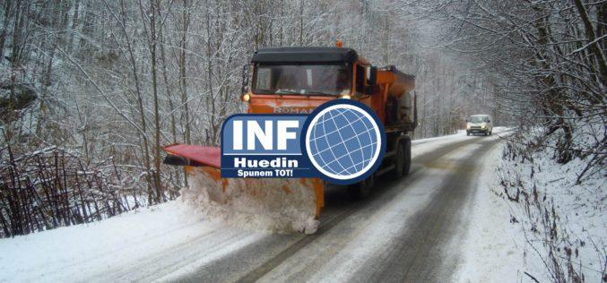 Circulați cu prudență! Polei pe drumurile județene din Cluj