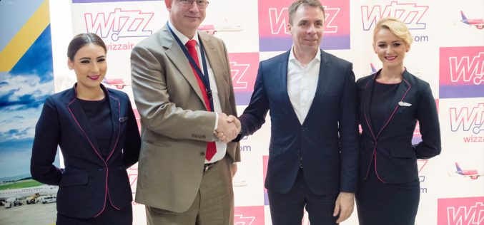 WIZZ AIR încheie 2017 cu un record de pasageri și plănuiește continuarea extinderii în 2018 (P)