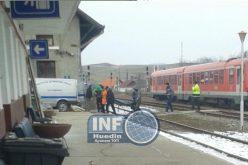 FOTO – Externat din spital, un bărbat a murit pe tren. Era în drum spre casă