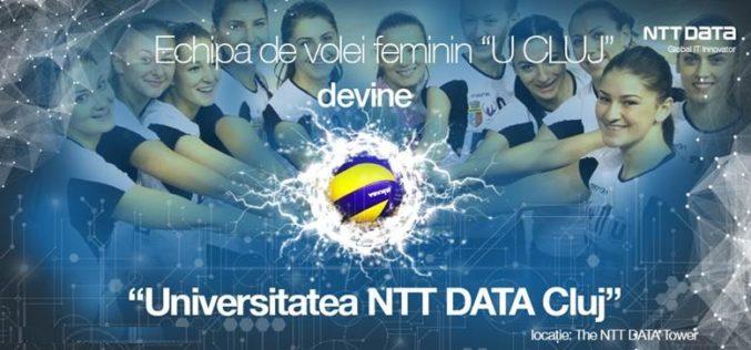 Universitatea NTT DATA, noua denumire a echipei de volei feminin