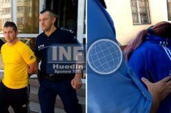VIDEO – Băcăuanca beată, cu 4 copii în mașină, a ajuns în fața judecătorilor din Huedin. Bărbatul ei, care a mușcat un polițist de picior, la fel