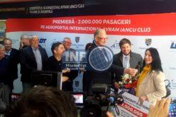 VIDEO – RECORD! Aeroportul Internațional Cluj celebrează astăzi, pentru prima dată în istorie, pasagerul cu numărul 2 milioane
