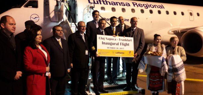 Din octombrie 2017, zboruri directe Lufthansa între Cluj și Frankfurt
