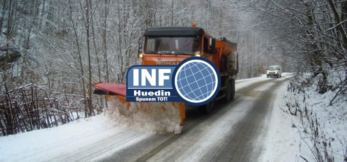 Cum se circulă pe drumurile județene din Cluj în 30 ianuarie
