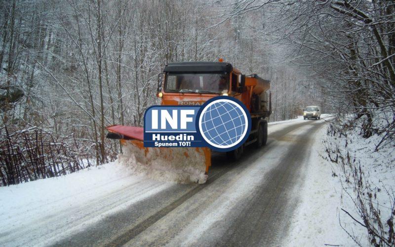 Cum se circulă pe drumurile județene din Cluj în 19 noiembrie. În zona de munte s-a format polei