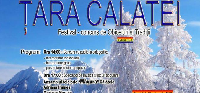"""În weekend, în Călățele, are loc concursul județean de obiceiuri și tradiții""""Țara Călatei"""""""