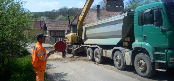 FOTO – CJ Cluj anunță că modernizează drumul dintre DN1 și Mănăstireni
