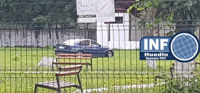 VIDEO – Un cocalar face drifturi în Parcul Tineretului. Îl recunoașteți?