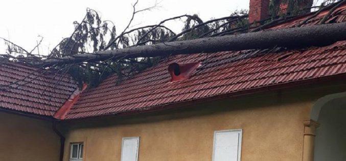 """FOTO – Furtuna a lăsat dezastru în urmă, la  Muzeul Memorial """"Octavian Goga"""" Ciucea"""