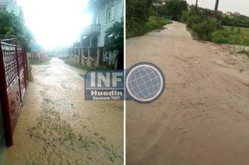 VIDEO – Huedin, mica Veneție după ploaia de ieri. Probleme au fost și în alte zone din județul Cluj