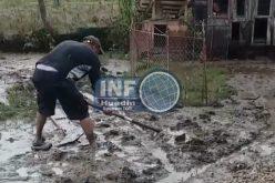VIDEO – Lângă Huedin o viitură a inundat tot satul