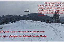 Urarea de Crăciun și Anul Nou a primarului din Săcuieu, Gheorghe CUC